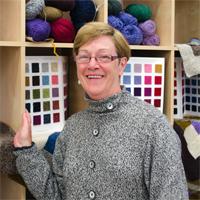 Kathy inside Kathy's Knits
