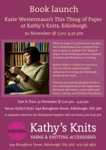 Book launch at Kathy's Knits