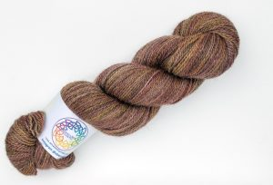 BFL-Gotland 4-ply - brown and pink