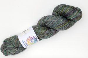 BFL-Masham 4-ply Dark green and purple