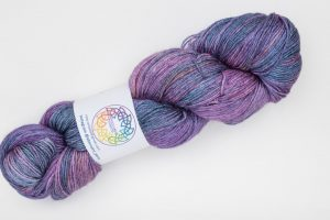 BFL-Silk 4-ply 150g - dark purple and blue