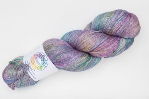 BFL-Silk 4-ply 150g - multi purple, green, bronze and blue