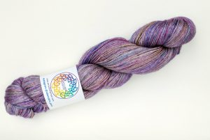 BFL-Silk 4-ply 100g - muted purple, pink and turquoise