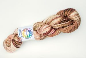 BFL-Silk 4-ply 100g - Pink cream with Speckles