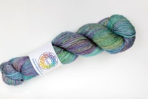 BFL-Silk 4-ply 100g - turquoise and lilac