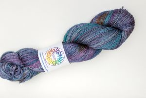 BFL-Silk 4-ply 100g - Galaxy - purple, teal and blue