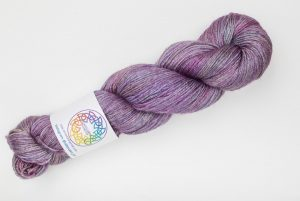 BFL-Silk 4-ply 100g - muted purple and pink