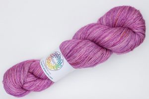 BFL-Silk Fine Lace-weight bright pink