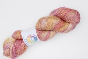 BFL-Silk Fine Lace-weight pink and orange