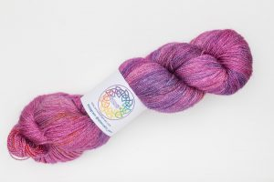 BFL-Silk Lace weight bright pink and purple