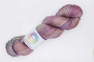 BFL-Silk Lace weight muted pink, lilac and turquoise
