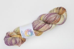 BFL-Silk Lace weight Taki - pink, orange and cream with speckles