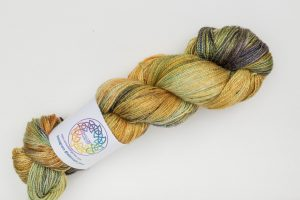BFL-Silk Lace weight Iona - green, gold and dark blue
