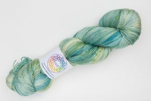 BFL-Silk Lace weight Kiko - mint green and turquoise