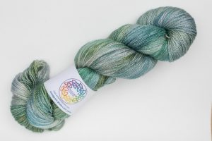 BFL-Silk Lace weight Sprite - green, turquoise and grey