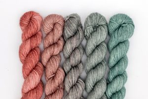 BFL-Nylon Gradient Sets Peach and mint-green