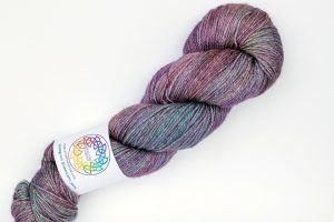 Merino-silk-cashmere 70-20-10 4-ply pink, purple and turquoise