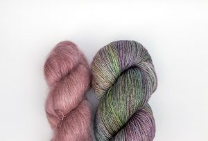 Kid Mohair-Silk - purple-pink + purple and green 2 pack