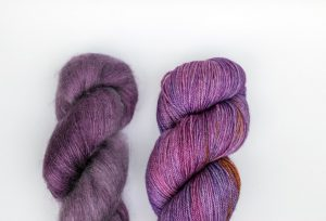 Kid Mohair-Silk - purple + purple and orange 2 pack