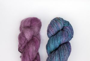 Kid Mohair-Silk - purple + purple and teal 2 pack
