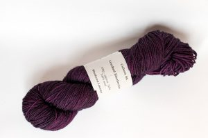 100% Bluefaced Leicester Crushed Blaeberries - dark purple